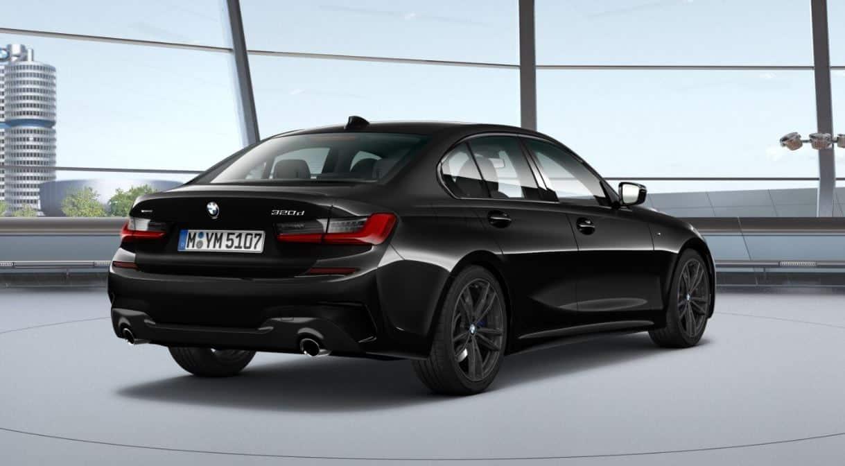 BMW 320d hinten